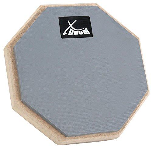 "XDrum TF-6 TrueFeel Practice Pad 6"" inkl. Tasche (Übungspad, Trainingspad, Spezialgummi-Oberfläche, sehr leise, Gewinde M8 für Stativ) grau/natur"