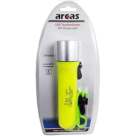 Arcas 30700035, 3W LED torcia da immersione, plastica, giallo fosforescente, 16x 4,2x 4,2cm