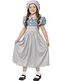 Childrens Fancy Dress Party Book Week Victorian School Girls Costume Outfit