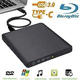 Externes Blu-Ray-Laufwerk Biscon USB 3.0 externer DVD Blu-Ray-Brenner für Mac / PC / MacBook Pro AirWindows 10/7/8