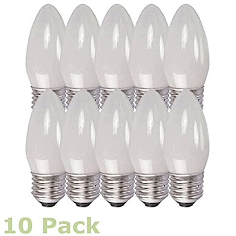 10 Edison Replacement Bulbs EDC25ES/OP 25W Candle Lamp ES/E27 Screw Lamp ( 10 Pack )
