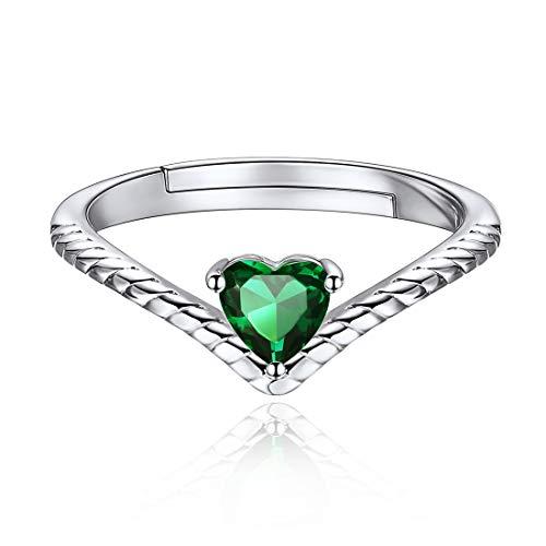 ChicSilver Mayo Esmeralda Verde Joyas Románticas