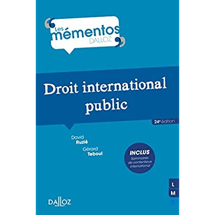 Droit international public - 24e éd.