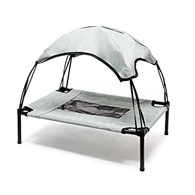 Wiltec Portable Outdoor Relax Pet Bed Canopy Dog Bed L Grey by WilTec