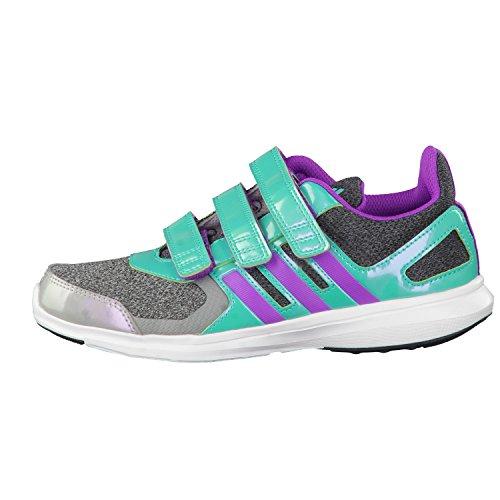 adidas Kinder Sportschuhe Hyperfast 2.0 CF K dark grey heather/shock purple f16/shock mint s16