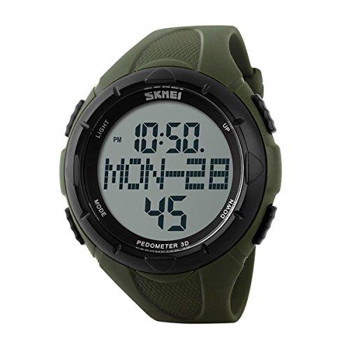 Reloj Deportivo Skmei dg1122s Digital resistente al agua alarma podómetro cronómetro por ayka soluciones (verde)