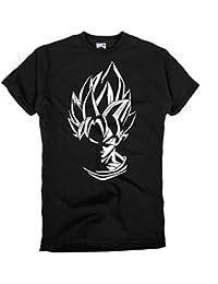 GIOVANI & RICCHI Herren Super Son Goku Blaue Haare Fitness Shirt T-Shirt Saiyajin in verschiedenen Farben