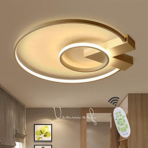 Wohnzimmerlampe LED Deckenleuchte Rund Dimmbar mit Fernbedienung Deckenlampe, Modern Landhaus Aluminium Acryl Lampenschirm Design Pendellampe für Schlafzimmer Esszimmer Küche Kinderzimmer Lampe Deko -
