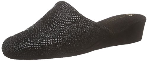 Hans Herrmann CollectionHHC - Pantofole a stivaletto con imbottitura calda Donna Nero (noir (Schwarz 10))