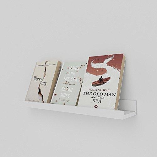 Oplon Wandregal Weiß Schwarz Schwebend Bücherregal Schweberegal Bücher, DVDs, und Dekoration...