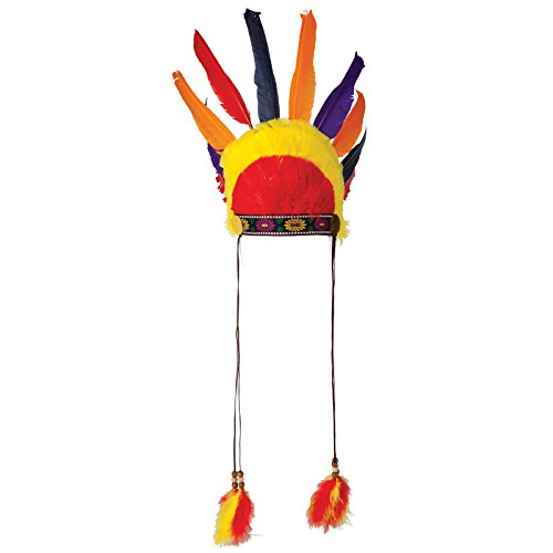 ss Hat Fancy Dress Adult One size Costume (Adult Indian Chief Kostüme)