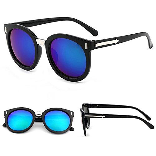 Sonnenbrillen Sonnenbrille Rund Frauenschatten Hat Überdimensionale Brille Klassische Designerin Sonnenbrille Mode Stil Black Frame Green Film (Taschenklau)