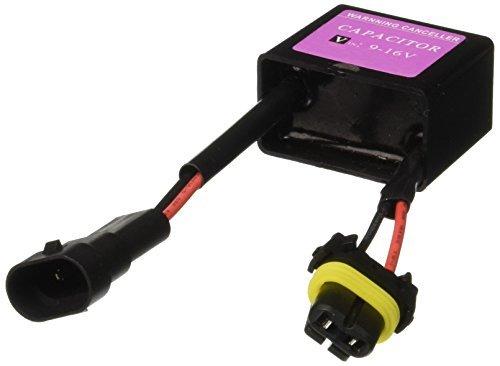 DealMux Schwarz Warnung Fehler Decoder Entwertungsstempelkondensator- Harness 9-16V für HID-Licht