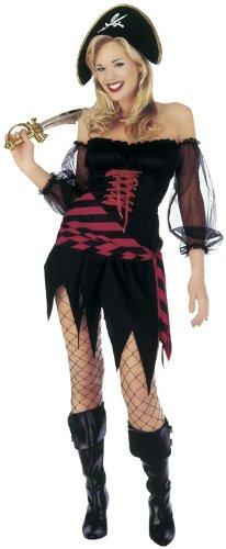 Sofias Kleiderschrank voll Damen Süßes Fancy Kleid Booty Buccaneer Piraten Damen Kostüm Funny Sexy (Flirty Mini-kleid)