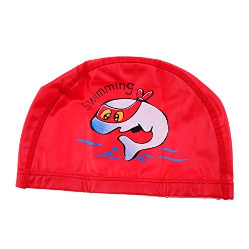 Sharplace Kinder Badekappe Bademütze für Junge und Mädchen Niedliches Design - Rot