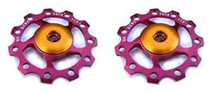 Kcnc paire de galets de dérailleur rouge roulements ceramique 9/10v