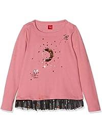 s.Oliver 53.809.31.8203, Camiseta de Manga Larga para Niñas (Pink 4365), 128