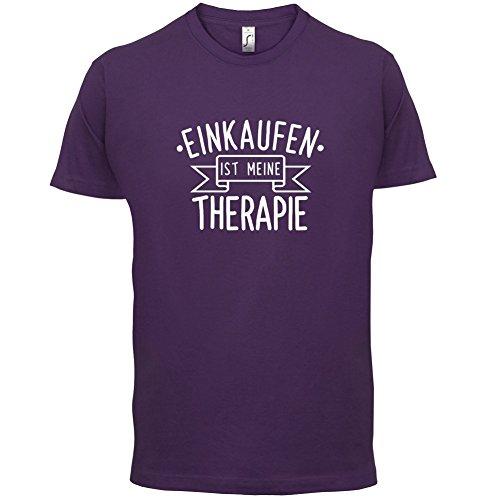Einkaufen ist meine Therapie - Herren T-Shirt - 13 Farben Lila