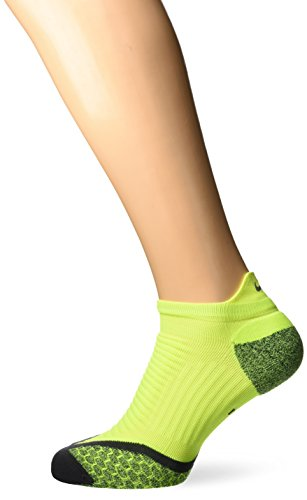 Nike No Show Socks Elite Running Cushion NST Volt/Anthrazit