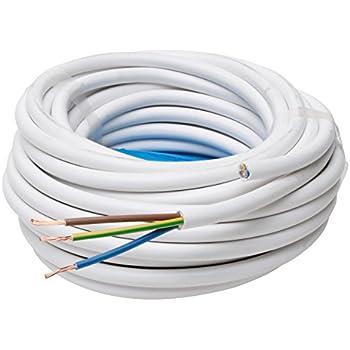 Kopp Schlauch-Leitung 3 adrig, H05 VV-F 3G1.5 mm² (25m) für flexible ...