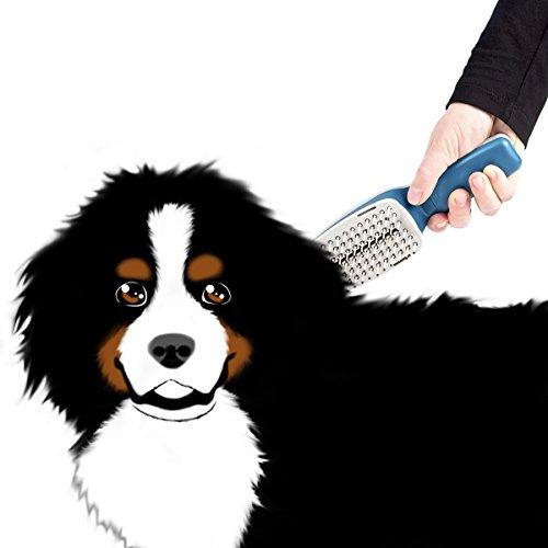 Relaxdays 10010240 Fellbürste für Hunde und Katzen mit Ionenreinigung - 2