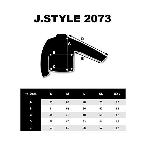 BOLF - Felpa - Pullover - Manica lunga – Maglione - Zip - Classic - Motivo - 1A1 Antracite_2073