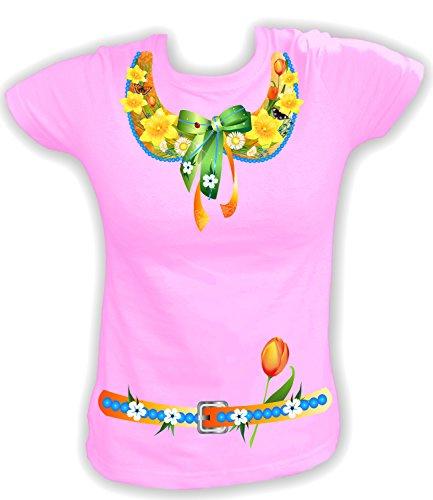 (Artdiktat Damen T-Shirt Frühlingskostüm Frühling Größe S, rosa)