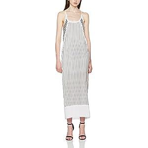 Calvin Klein Devon Stripe Strappy SL Maxi Dress – Vestido Mujer