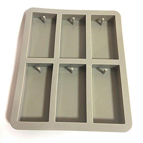 Soccik Silikon Seifenform Kuchenform 6 Hohlräume Rechteck Silikon Ofen Handgemachte Seife Formen Soap DIY Formen Schokoladen Schimmel -
