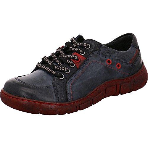 Kacper Damen Schnuerschuhe Blauer Sneaker mit roter Sohle 2-1166/678P+678+506+311 blau 300710