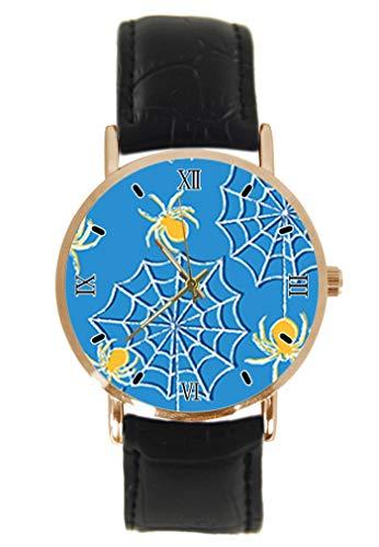 mbanduhr Fashion Klassisch Unisex Analog Quarz Edelstahl Gehäuse Leder Armband Uhren ()