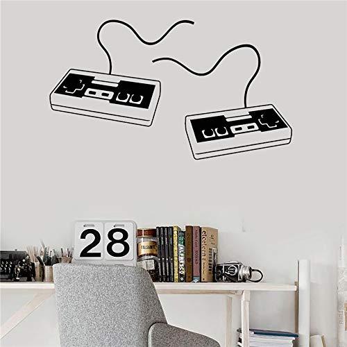 zhuziji Vinyl Wandaufkleber Joystick Video Game Game Art Game Wallpaper Aufkleber Boy Room Moder Wall Stick Kaffee Farbe 58 X 33 cm -