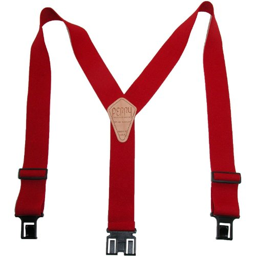 Perry Braces Mens Elastic Hook End 2 Inch Work Braces (Tall Availabl