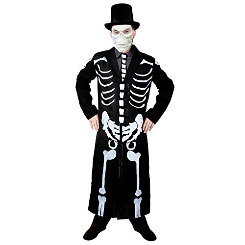 I love Fancy Dress ilfd4063l Herren Skelett Fell und Krawatte Halloween Fancy Dress Kostüm (groß)
