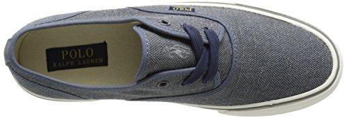 Polo Ralph Lauren Morray Canvas Fashion Sneaker Dark Chambray Vintage Burlap