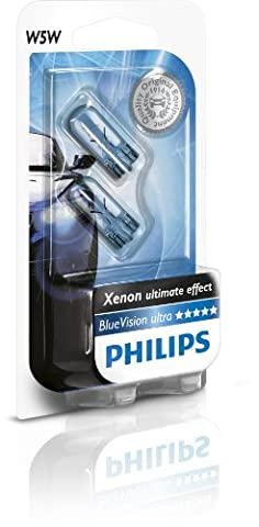 Philips 0730024 12961-BV W5w Blue Vision Bulb 5W (2 Bulbs)