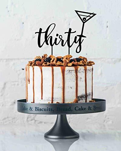 z zum 30. Geburtstag, Dirty Thirty 30Th Martini-Glas, Kuchendekoration, Geburtstagskuchen, 30 Stück ()