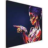 Revolio - Quadro su Tela - Stampa Artistica intelaiato Pronti da Appendere - Dimensioni: 70x50 cm - Donna Vernice Arte