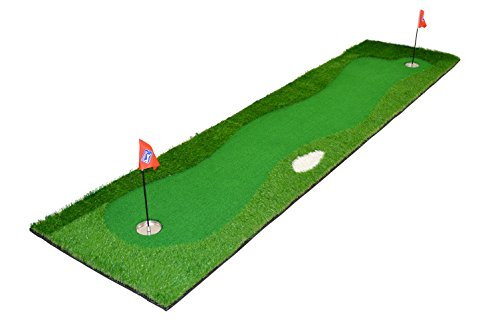 PGA Tour Unisexe St. Andrews Golf Deluxe Tapis de Putting, Vert, 75 x 300 cm