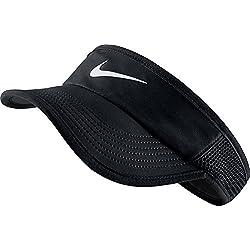 Nike W Featherlight Visera, Mujer, Negro / Blanco (Black / Black / White), S/M
