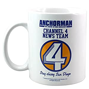 50 Fifty Concepts Anchorman Channel 4 News Team Mug, White