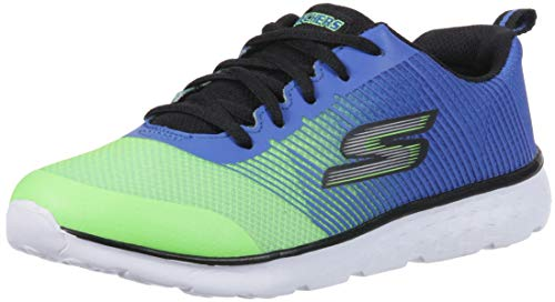 Skechers Go Run 400-Fast Pace, Sneaker Bambino, Blu Blue Lime, 36 EU