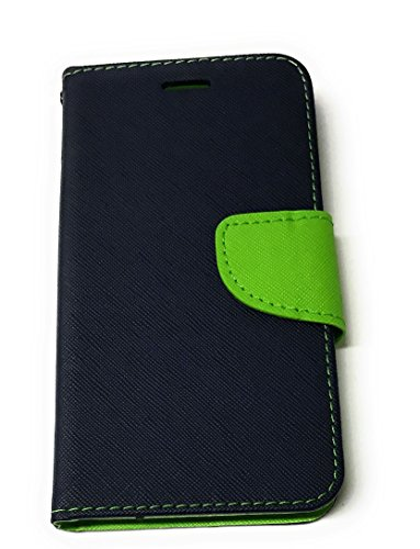 Stylish Book Style Flip Case for Apple iPhone *–Mobile Phone Case Sheath Cover Book Case Wallet Wristlet Blue/Green