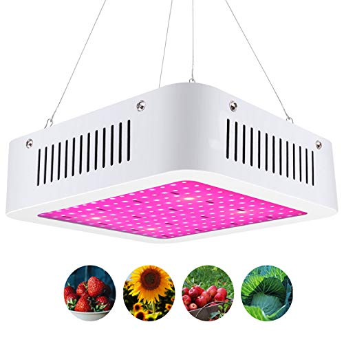 LED Pflanzenlampe 600W Vollspektrum LED Grow Light Wachstumslampe für zimmerpflanzen mit Daisy-Chain Funktion(96 leds)