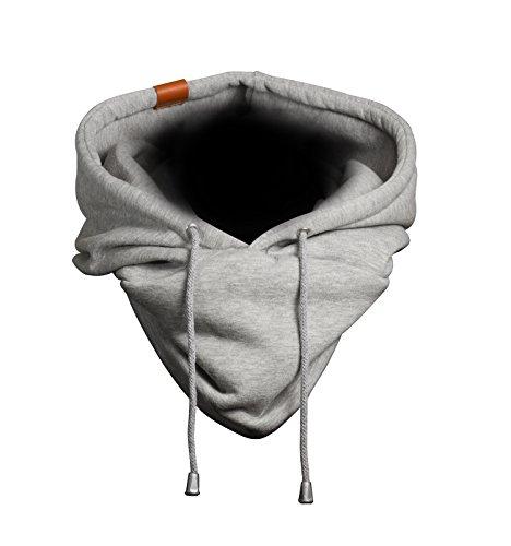 Hooded Loop - Kapuzen Schal, Loop aus hochwertigem Sweat/Jersey mit Echt-Leder Veredelung (Manufaktur13) (Jersey Stitch-pullover)