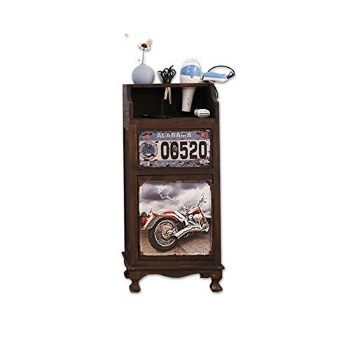 Zzyq Cabinet Multifonctionnel De Tiroir De Stockage De Coffret D'outil De Salon De Salon De Coiffure En Bois Plein Vintage,B