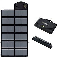 GIARIDE 18V 80W Faltbar Solarladegerät Dual 5V USB+18V DC Output Sunpower Solar Panel Outdoor Tragbare Ladegerät für 12V Auto Batterie, Laptop, Tablet, Handy, iPhone, Galaxy, iPad