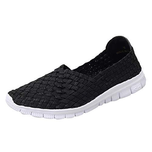 Epig Womens Summer Flat Mit Gewebten, Atmungsaktiven Schuhen Und Gewebten, LäSsigen Turnschuhen -