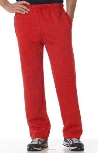 Badger da uomo in policotone Open Bottom pantaloni con elastico in vita – Foresta – Large Red