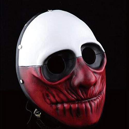VAWAA Hohe Qualität Halloween Beängstigend Payday 2 Wolf Harz Masken Party Cosplay Masken Männer Joker Maskerade Kleid Kostüm Sammlung Requisiten (Payday 2 Cosplay Kostüm)